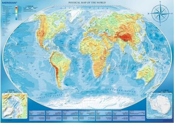 Large Physcial Map Of The World