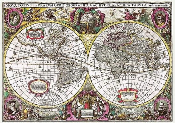 Map Of The Entire Earth, 1630