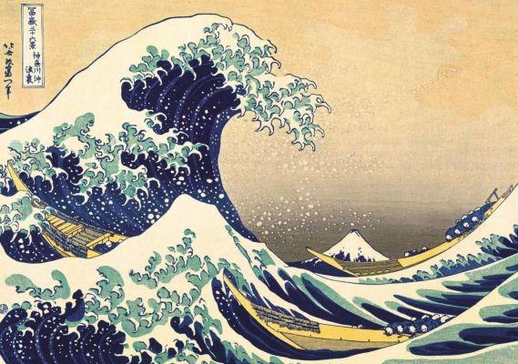 The Great Wave Of Kanagawa, Hokusai Kat