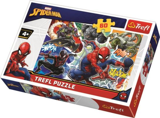 Trefl Çocuk Puzzle Brave Spiderman, Disney 60 Parça Puzzle