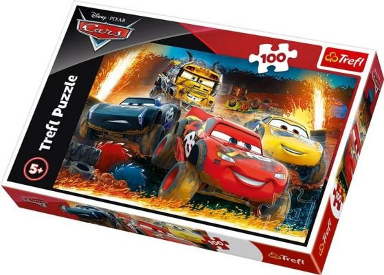 Trefl Çocuk Puzzle Extreme Race / Disney Cars 3 100 Parça Puzzle