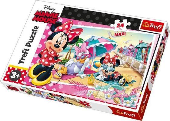 Trefl Çocuk Puzzle Minnie\'s Holiday / Disney Minnie 24 Parça Maxi Puzzle