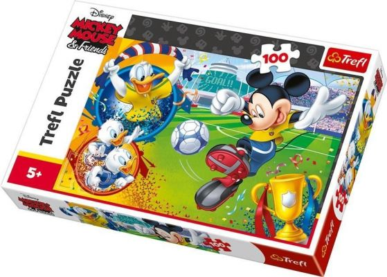 Trefl Çocuk Puzzle Mickey Mouse on the Field / Disney Stand 100 Parça Puzzle
