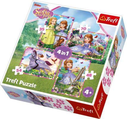 Trefl Çocuk Puzzle Sofia\'s World / Disney Sofia The Firs 35+48+54+70 Parça 4 in 1 Puzzle