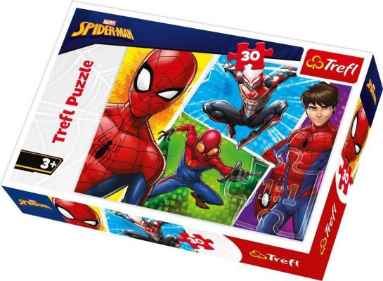 Trefl Çocuk Puzzle Spiderman and Miguel / Disney Marvel Spid 30 Parça Puzzle