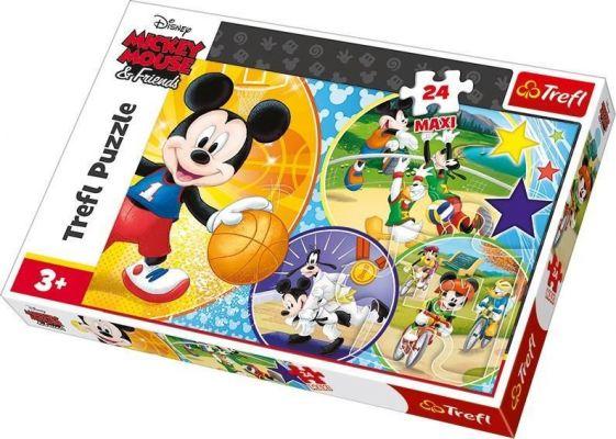 Trefl Çocuk Puzzle Time for Playing Sports! / Disney St 24 Parça Maxı Puzzle