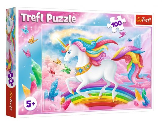 Trefl Puzzle Into The Crystal World Of Unicorns 100 Parça Yapboz