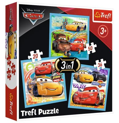 Trefl Puzzle Cars 3 Preparations For The Race 20+36+50 Parça Yapboz