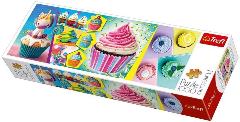 Trefl Puzzle Colourful Cupcakes 1000 Parça Panoramik Puzzle