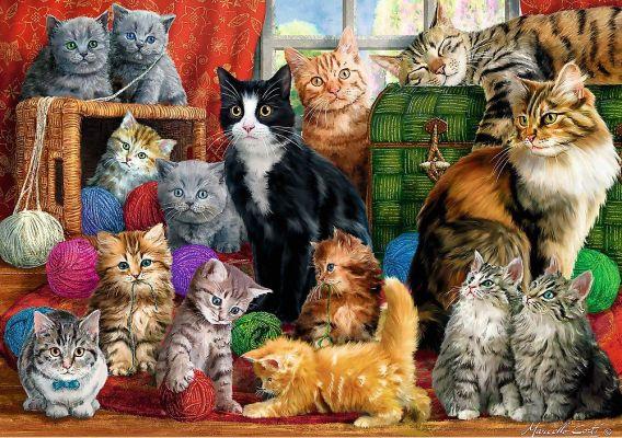 Trefl Puzzle Feline Meeting 1000 Parça