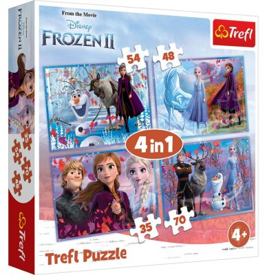 Trefl Puzzle Frozen II Journey Into The Unknown 4\'lü 35+48+54+70 Parça Yapboz