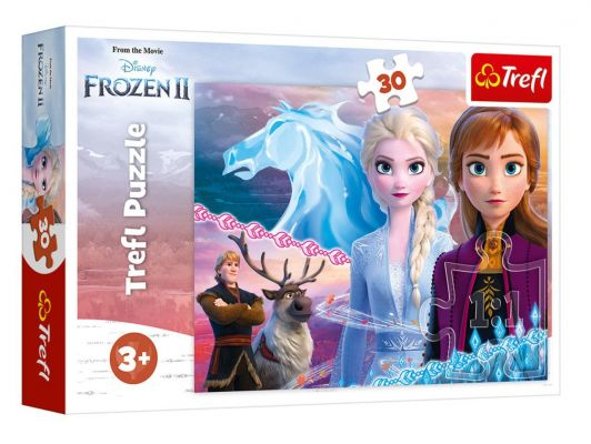 Trefl Puzzle Frozen II  The Courage Of The Sisters 30 Parça Yapboz