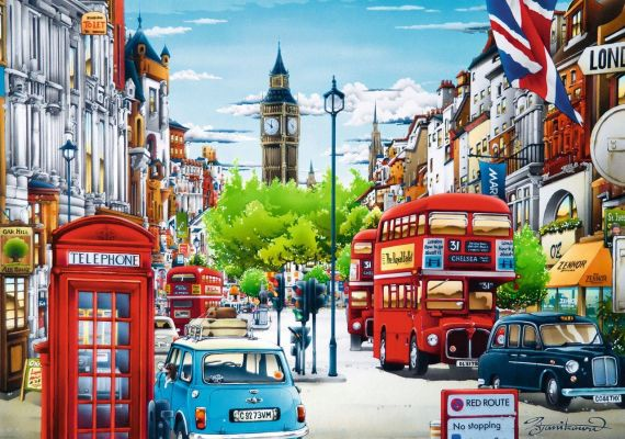 Trefl Puzzle London Street 1000 Parça