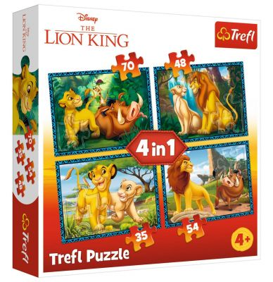 Trefl Puzzle The Lion King And The Friends 4\'lü 35+48+54+70 Parça Yapboz
