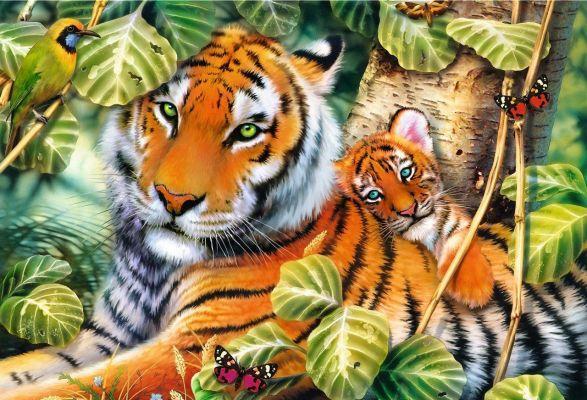 Trefl Puzzle Two Tigers 1500 Parça