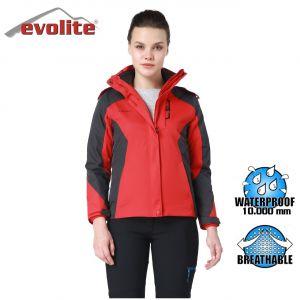 Evolite Diva Bayan 3in1 Gri/Kırmızı Mont