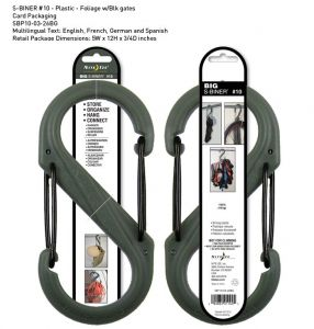 Nite-ize S-Biner Plastik Size 10 Fo! Grn/Blk Gate