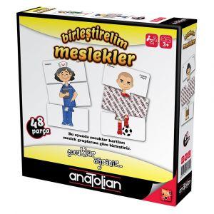 Anatolian Birleştirelim Meslekler 48 Parça Eğitici Oyun
