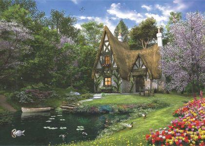 Anatolian Göl Evi Spring Lake Cottage 3000 Parça Puzzle - Yapboz