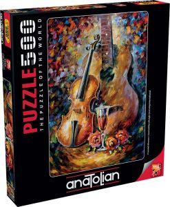 Anatolian Gitar ve Keman Guitar and Violin 500 Parça Puzzle - Yapboz