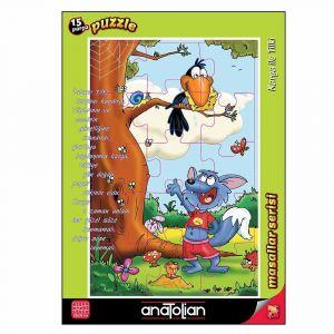 Anatolian Karga ile Tilki 15 Parça Puzzle - Yapboz