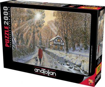 Anatolian Karlı Orman Winter Woodland 2000 Parça Puzzle - Yapboz