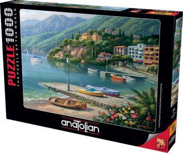 Anatolian Liman / Hillside Harbor Cove 1000 Parça Puzzle - Yapboz