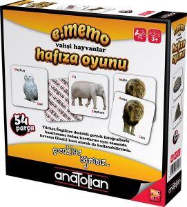 Anatolian Vahşi Hayvanlar Hafıza Oyunu 54 Parça Oyun
